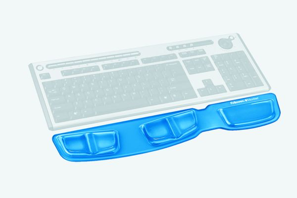 Keyboard palm support, crystal blue