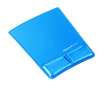 FELLOWES Mouseppad with wristsupport,  crystal blue (9182201)