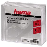 CD-Double-Box 5er-Pack Transparent Jewel-Case     44752