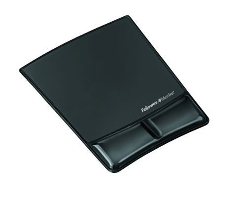 Mousepad wrist support Fellowes Health-V Crystals black