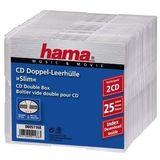 HAMA 1x25 CD-Leerhülle CD-Box- Slim Double                51168