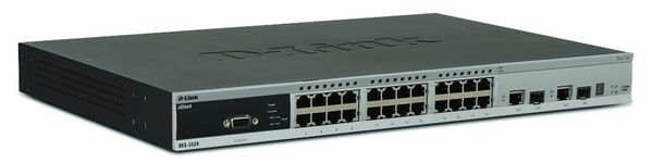 SWITCH DES-3528 24PORT 10 100L2+ MANAGED 2COMBO SFP 4 GBE PORTS