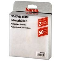 1x50 CD/DVD Protective Sleeves, white             78323