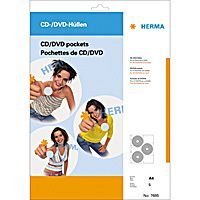HERMA CD/ DVD-Hüllen je 6 CD/DVD 5 Hüllen transparent        7685 (7685)