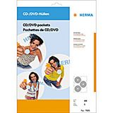 HERMA CD/ DVD-Hüllen je 6 CD/DVD 5 Hüllen transparent        7685