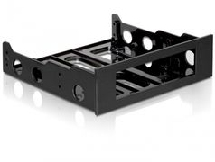 "DELOCK 3.5"" For Mounting In 5.25"" Black"