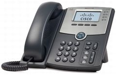 CISCO 4 Line IP Phone w/Display PoE + PC Port