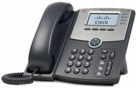 4 LINE IP PHONE WITH DISPLAY POE & PC PORT
