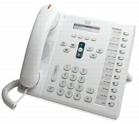 CISCO Unified IP Phone 6961/ White/ Std Handset (CP-6961-W-K9= $DEL)