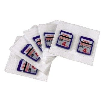 self-adhesive sleeves for SD-cards, 5pcs Pack