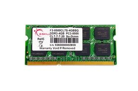 SO-DIMM 4 GB DDR3-1066 (F3-8500CL7S-4GBSQ) F3-8500CL7S-4GBSQ