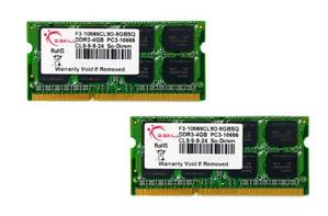 SO-DDR3-1333 8GB CL9 Kit 2x4GB
