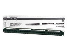CAT 6, PATCH PANEL KLASSE E, 48 PORT, UNGESCHIRMT   IN ACCS