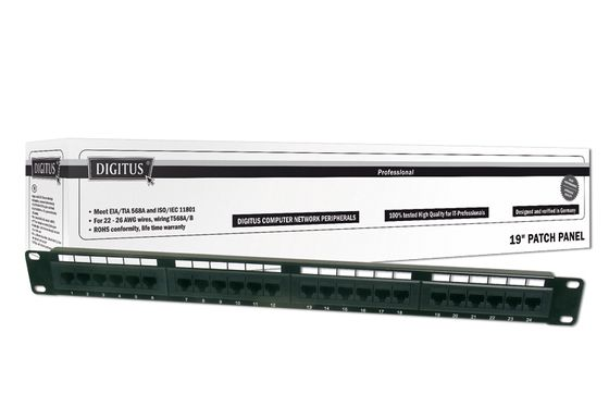 DIGITUS CAT 6, PATCH PANEL KLASSE E, 48 PORT, UNGESCHIRMT   IN ACCS
