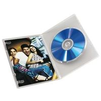 1x10 DVD-Leerhülle Slim Transparent 50% Platzersp. 83890