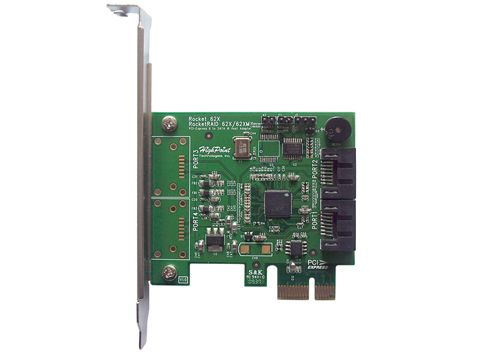 Rocket 620 2-channel PCI-E 2.0X1 to SATA III contr.