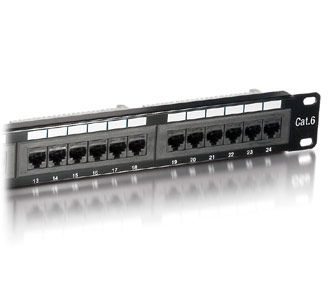 PatchPanel Cat.6 24 Port equip