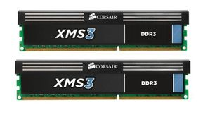 CORSAIR 8GB (KIT) DDR3 1600MHz/ CL9/ XMS3 for AMD and Intel Core i7, i5 and i3 (4GBx2) (CMX8GX3M2A1600C9)