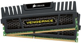 Vengeance™ DDR3 1600MHz 4GB CL9 Kit w/2x 2GB XMS3 modules, CL9-9-9-24,  1.5V, Vengeance Heatspreader,  240 pin