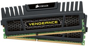 CORSAIR Vengeance™ DDR3 1600MHz 4GB CL9 Kit w/2x 2GB XMS3 modules, CL9-9-9-24,  1.5V, Vengeance Heatspreader,  240 pin (CMZ4GX3M2A1600C9)