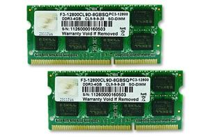 SO-DIMM 8 GB DDR3-1600 Kit (F3-12800CL9D-8GBSQ)