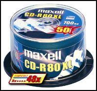 CD-R 80XL 700MB SILVER 1-48X SPINDEL 50-PACK NS