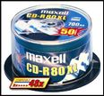 MAXELL CD-R 80XL 700MB SILVER 1-48X SPINDEL 25-PACK NS