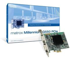 Millennium G550 PCI-E 32MB DDR PCIe 1x DualHead× TV-Out Optional