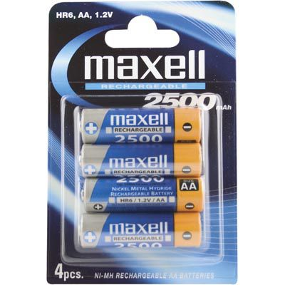 NI-MH RECHARGEBLE BATTERY (AA) HR-6 2500MAH BLISTER 4-PACK NS