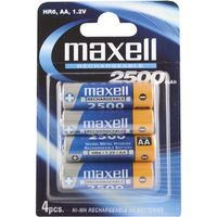MAXELL NI-MH RECHARGEBLE BATTERY (AA) HR-6 2500MAH BLISTER 4-PACK NS (785991)