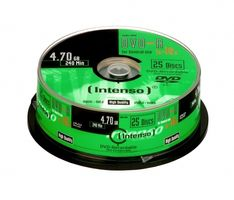 1x25 DVD-R 4,7GB 16x Speed, kratzfest,  Cakebox