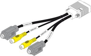 COMPOSITE S-VIDEO CABLE 1FT FOR G450 MULTI-MONITOR SERIES&QID AGP PRO