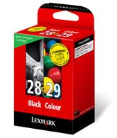 LEXMARK Ink Cart No28/ black+No.29/ CMY (18C1520E)