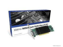 MILLENNIUM P690 PLUS LP PCI 256M QUAD-UPGRADEABLE DUALHEAD CARD WEEE ROHS