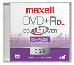 DVD+R Dual Layer 8,5GB 2,4x Speed *10-pack* Cakebox