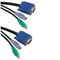 KVM Switch Cable 1.8m 2x2 6pMale/ 15pMale-Female C18
