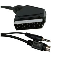 Scartcable video/ audio 5m S-Video+3.5mm - Scart. V12