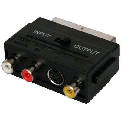 Scart Adap. video/ audio S-Video+3xRCA F In-Out. V18