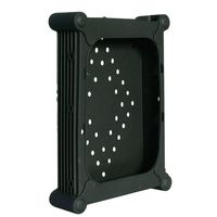 "3.5"" HDD Protector Black silica, stackable, screws"