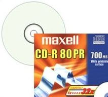 CD-R 80min 700MB Inkjet Printable Multiuse (White) 52xSpeed *10-pack* SlimCase