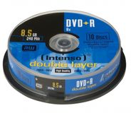 INTENSO 1x10 DVD+R 8,5GB 8x Speed, Double Layer Cakebox