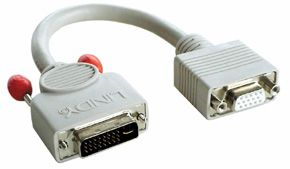LINDY Monitoradapter DVI-Am/ HD15f Adapterkabel 20cm (41222)