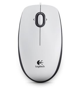 LOGITECH M 100 Mouse USB white (910-001605)