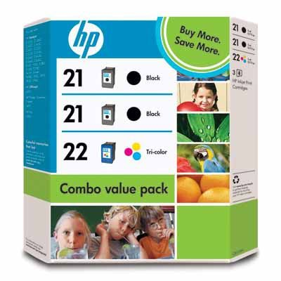 INK CARTRIDGE NO 21/21/22 3PACK . SUPL