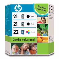 INK CARTRIDGE NO 21/21/22 3PACK .