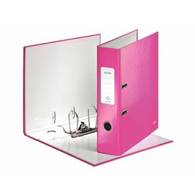 LEITZ 180° WOW Lever Arch File, 10050023, 85mm pink