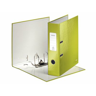 LEITZ 180° WOW Lever Arch File, 10050064, 85mm green