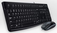 LOGITECH MK 120 corded Desktop USB Keyboard + Mouse