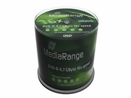 DVD-R MediaRange 4.7GB 100pcs
