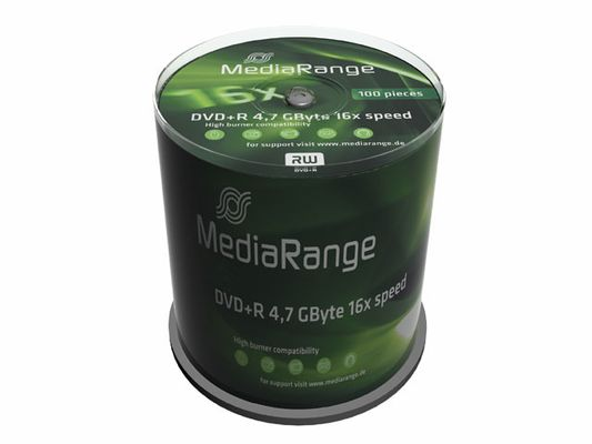 DVD+R MediaRange 4.7GB 100pcs